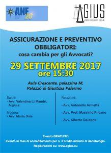 Evento assicurazioni preventivo obbligatori 29 Settembre 2017 ore 15:30